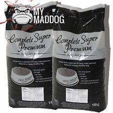 2 X 15kg Premium Adult Dog Food Chicken & Rice Hypoallergenic Complete Biscuits