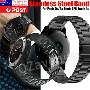 For Garmin Fenix 5X 6x 5 6 5s Watch Stainless Steel Quick Replacement Band Strap
