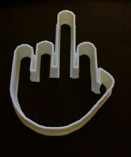 MIDDLE FINGER #1 shape 3d printed plastic cookie cutter 5 inch tall large