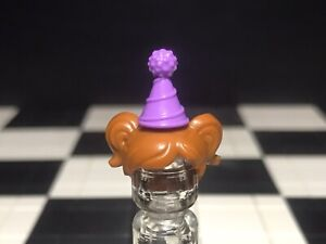 Lego Dark Orange Minifigure Hair With Party Hat X1 For Female / Girl / Woman