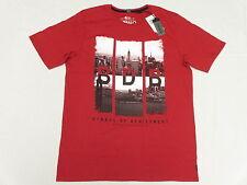 $39 NWT NEW Mens Buffalo David Bitton T-Shirt NESTOR Graphic Tee Red Size M N035