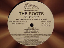 """THE ROOTS - CLONES b/w SECTION (12"""")  1996!!!  RARE!!!  DICE RAW + M.A.R.S.  ♫"""