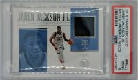 2018 Panini Encased Rookie Relics Jaren Jackson Jr RC, PSA 9, Pop 1 ! 0^