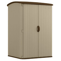 Extra Large 98 Cu. Ft. Multi-Walled Sturdy Double Door Vertical Shed Made in USA