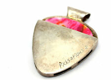Vtg Modernist PICKSTATIONS Sterling Silver GUITAR PICK Holder Pendant w. Pick!