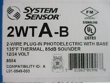 (NEW) SYSTEM SENSOR 2WTA-B - 2-WIRE PHOTOELECTRIC SMOKE DETECTOR