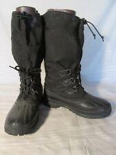 E1579 Sorel Black Rubber/Fabric Steel Shank Boots Men's 9