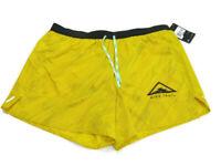 "Nike Shorts Yellow Black Flex Stride 5"" Trail Running Mens Size 2XL CQ7949 735"