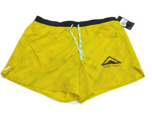 "Nike Shorts Yellow Black Flex Stride 5"" Trail Running Mens Size 2XL CQ7949 735"