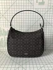 Coach 29959 Outline Zip Shoulder bag Signature Jacquard handbag Black/Smoke BLK