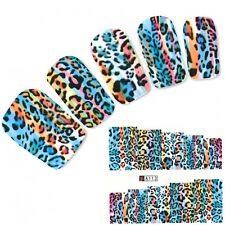 Nagel Sticker Tigermuster Afrika Wildnis Nail Art Water Decal