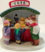 "VINTAGE 1993 PORCELAIN ""TOY STAND"" DICKENSVALE  VILLAGE, MADE BY LEMAX  NEW"