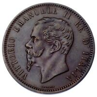 1862 Italy 10 Centesimi Coin in XF, KM# 11.1