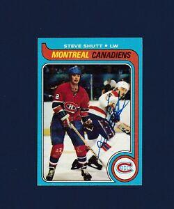 Steve Shutt signed Montreal Canadiens 1979-80 Topps hockey card