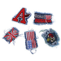 5Pcs Embroidered Iron On/Sew On Patch DIY Fabric Badge Bag Clothes Applique