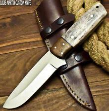 LOUIS MARTIN RARE CUSTOM HANDMADE FIXED BLADE D2 TOOL STEEL ART HUNTING  KNIFE
