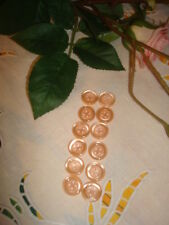 12 BOUTONS ROSES / PINK. BOTTONS