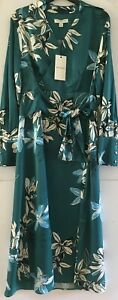 M&S AUTOGRAPH Green Floral Print Wrap Style Dress RRP £59  sizes  UK10,12 or 16