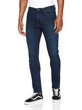 New Look Mens Blue Black Skinny Jeans