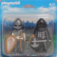 Playmobil Blister Duopack 6847 Ritterduell weißer Ritter VS schwarzen Ritter NEU