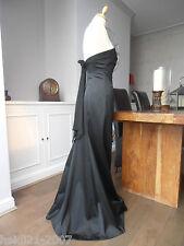 COAST MAXI BLACK  DUCHESS SATIN WIGGLE LONG DRESS  SIZE 10 RARE