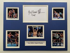 """Boxing Tony Bellew Signed 16"""" X 12"""" Double Mounted Display"""