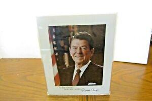Ronald Reagan Autograph Photo To Lee Vincent
