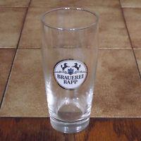 altes Bierglas Brauerei Rapp 0,25 l