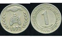 ALGERIE  ALGERIA  1  dinar  1972     ( aus )