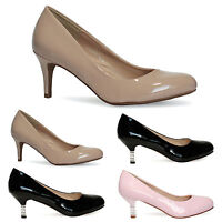 Ladies Womens Pointed High Heel Smart Work Party Pumps Court Shoes New Size 3-8