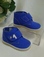 BABY Jungen Kinder Schuhe Herbst MADE IN ITALY Gr. 18 Royalblau LEDER NEU 1 Ball