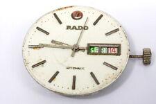Rado dial and automatic movement runs/stops for repairs/parts              -3978