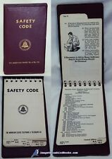 Safety Code: Mountain States Telephone & Telegraph VG+ 1947 edition 80601