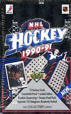 2 BOX LOT 1990-91 UD UPPER DECK LOW SERIES SEALED HOCKEY BOX