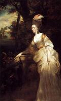 "Oil painting Joshua Reynolds - Georgiana, Duchess of Devonshire lady in view 36"""