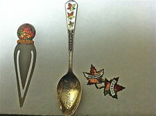 Souvenirs from Canada 3 Vintage Enameled