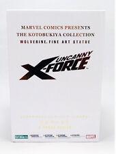 "KOTOBUKIYA_Marvel Comics__X-Force WOLVERINE 10.5 "" Fine Art Statue_# 378 of 1200"
