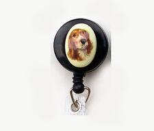 DOG Retractable ID Badge Reel Holder Key Chain Springer English Welsh Spaniel