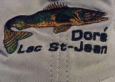 Fisherman' s Baseball Hat DORE~ LAC ST-JEAN ~ Casquette de Pecheur ~