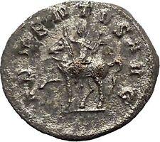 TRAJAN DECIUS on horse 250AD Authentic Rare Ancient Silver Roman Coin  i40630