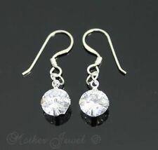 Diamond Sterling Silver Wedding Party Earrings