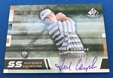 Fred Couples 2003 Upper Deck SP Game-Used 'Scorecard Signatures' Autograph