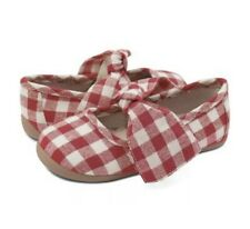 NEW Girls Livie & Luca Red Gingham Halley Ballet Flat Shoes Sz 1 Youth Big Girl