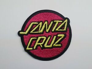 1pc Santa Cruz Logo iron on or sew on Patch Skater Brand Surfboards