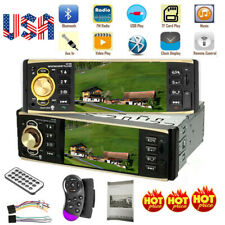Car Stereo Radio Audio Bluetooth 4inch MP3 Player 1 DIN USB FM AUX + Camera USA