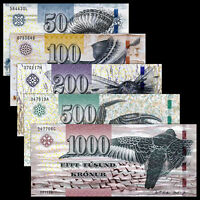 Faeroe Faroe Islands Set 5 PCS, 50+100+200+500+1000 Kronur, 2011, P-29-33, UNC