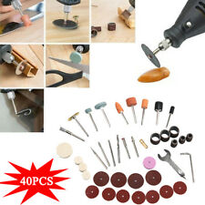 40Pcs Electric Rotary Power Tool Set Sanding Grinder Polish Accessory Bit tool
