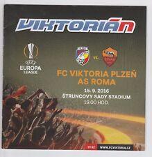 Orig.PRG   Europa League  2016/17   FC VIKTORIA PLZEN - AS ROM  !!  SELTEN