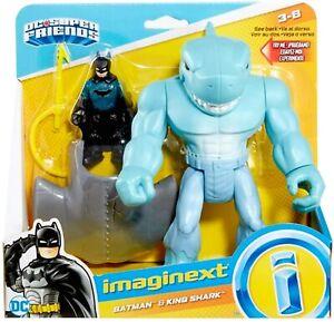 Imaginext DC Super Hero Friends Batman and King Shark NEW