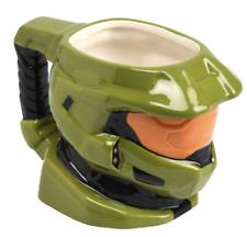 HALO ! Master Chief Helmet Sculpted Ceramic 12 oz. Coffee Mug/Cup Green New